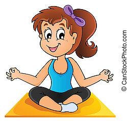 1, образ, йога, тема