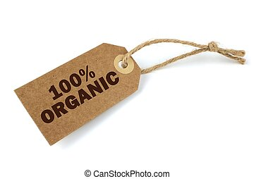 100%, органический, метка