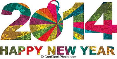 2014, год, счастливый, новый, numerals