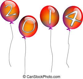 2014, balloons