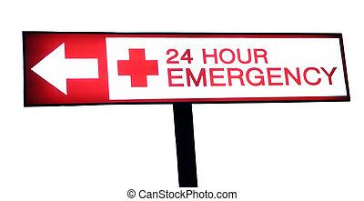 24, больница, час, крайняя необходимость, знак