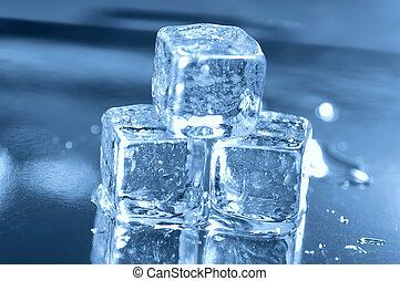 3, cubes, лед