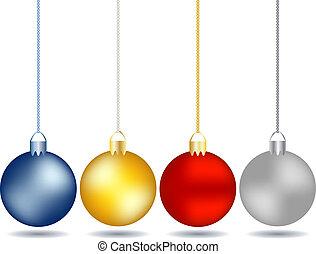 4, задавать, рождество, ornaments, подвешивание