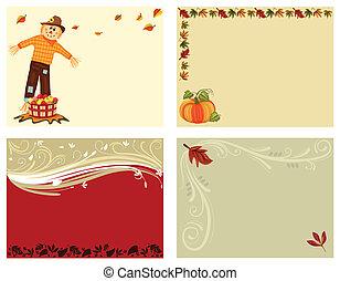 4, задавать, cards, осень