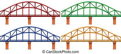 4, мосты, красочный
