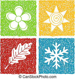 4, seasons, болван, icons