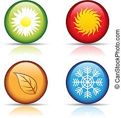 4, seasons, icons