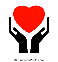 8, heart., eps, держа, руки