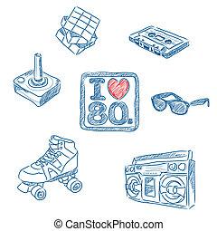 80s, doodles, люблю