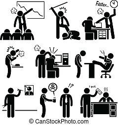 abusing, наемный рабочий, сердитый, босс