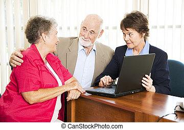 advisor, пара, финансовый, старшая