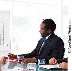afro-american, встреча, бизнесмен