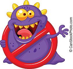 al, -, стоп, вирус, красный, пурпурный