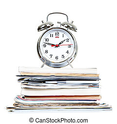 alarm-clock, documents
