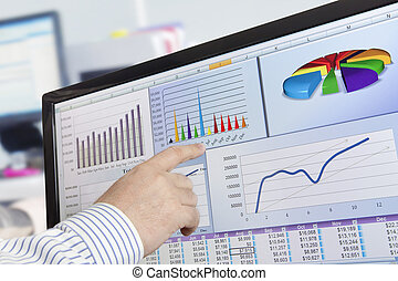 analyzing, компьютер, данные