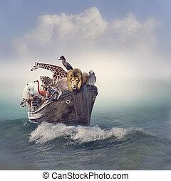 animals, лодка