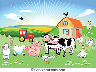 animals, ферма, коробка