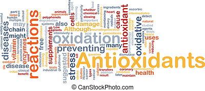 antioxidants, концепция, здоровье, задний план