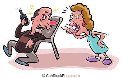 argues, алкоголик, муж, жена