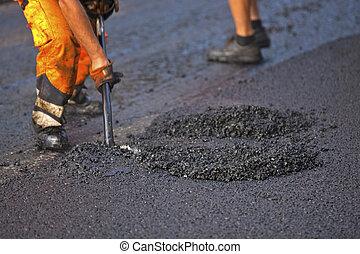 asphalting, дорога