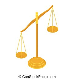 background., белый, справедливость, баланс, знак, масштаб, isolated, латунь, адвокат, золото