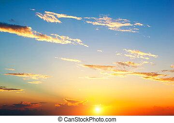 background., небо, закат солнца, идеально