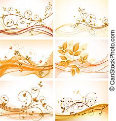 backgrounds, задавать, цветочный, абстрактные