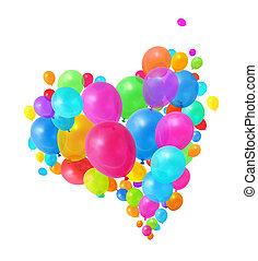balloons, летающий, красочный