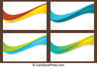 banners, templates, задавать, colourful, волна