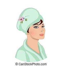 bathroom., cosmetics, процедура, салон, или, спа