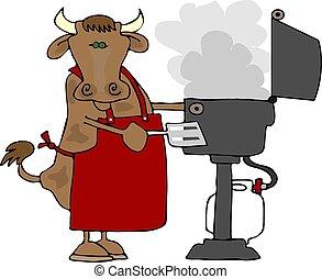 bbq, говядина