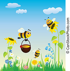 bees, луг