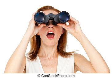 binoculars, через, ищу, бизнес-леди, провидец