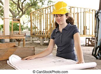 blueprints, студент, инжиниринг