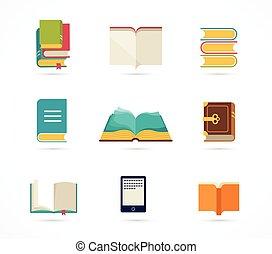 books, коллекция, icons