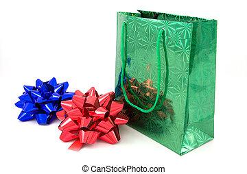 bows, зеленый, два, пакет