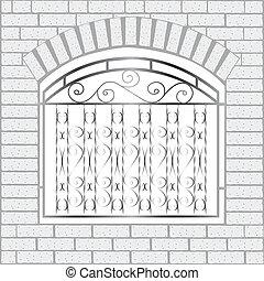 bricks, белый, железо, забор