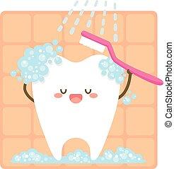 brushing, сам, зуб