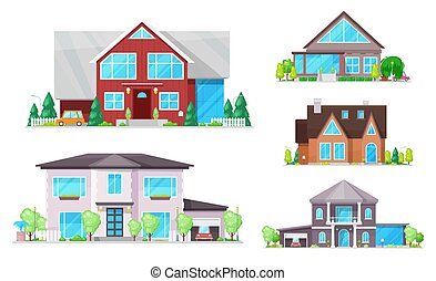 buildings, окна, roofs, дом, коттедж, главная