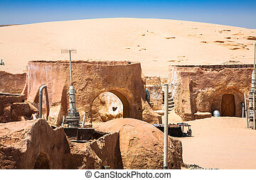 buildings, tunisia., ong, tozeu, jemel, место, jemel