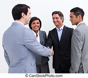 businessmen, руки, shaking
