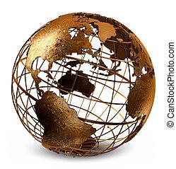 caged, земной шар