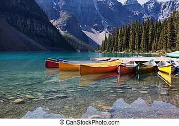 canoes, морена, озеро