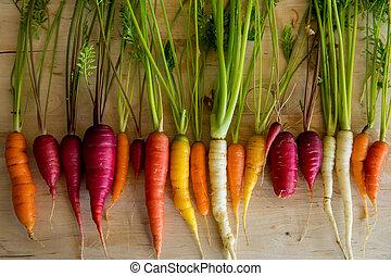 carrots, органический