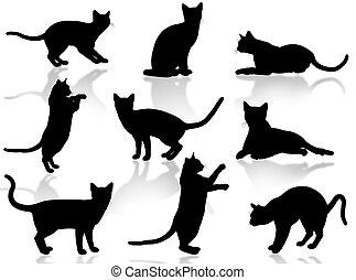 cats, силуэт