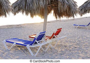chairs, тропический, пляж