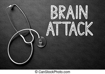 chalkboard., атака мозга, illustration., 3d