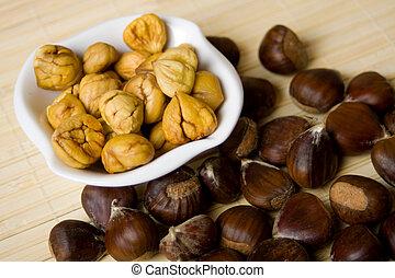 chestnuts, миска