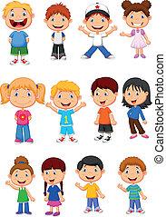 children, задавать, коллекция, мультфильм