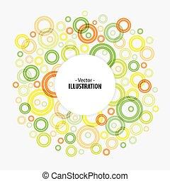 circles, абстрактные, яркий, вектор, задний план, технологии